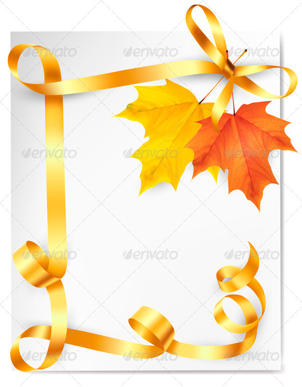 GraphicRiver Autumn Background with Colorful Leaves 5386042