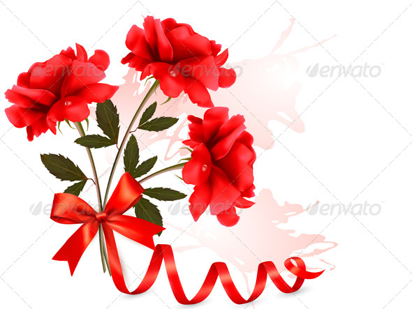 GraphicRiver Holiday Background with Red Roses 5386066