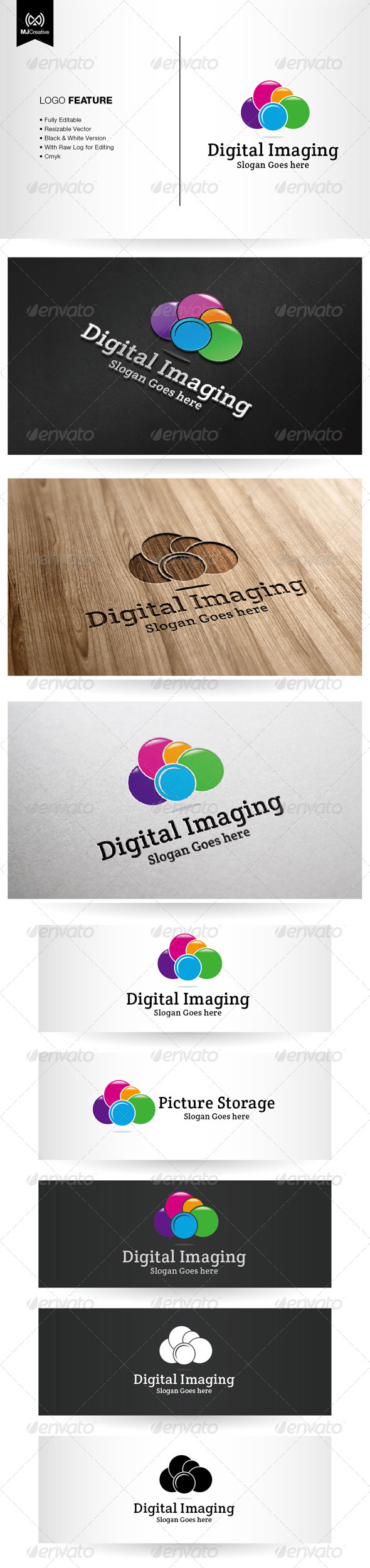GraphicRiver Cloud Camera and Digital Logo 5386157