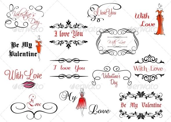 GraphicRiver Set of Valentine s Headlines 5386202