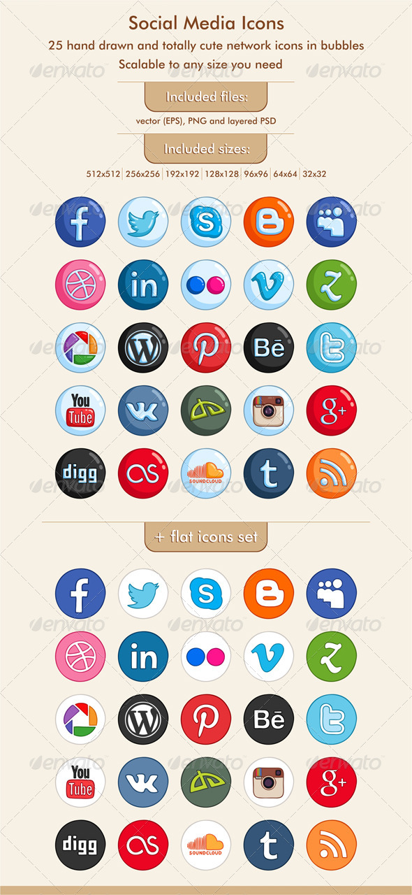 GraphicRiver Social Media Icons 5382013