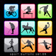Sport Buttons Silhouettes Set - GraphicRiver Item for Sale