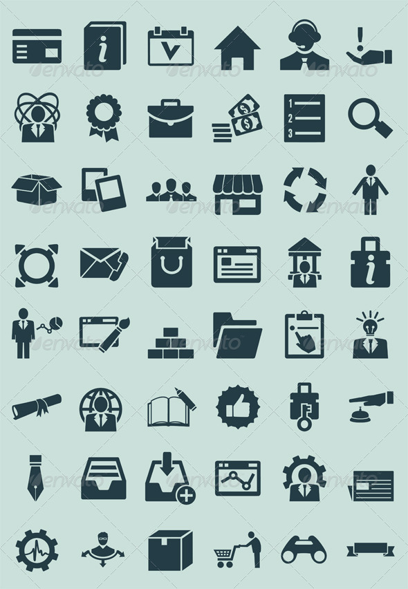 GraphicRiver Set of service and social media icons 4929939