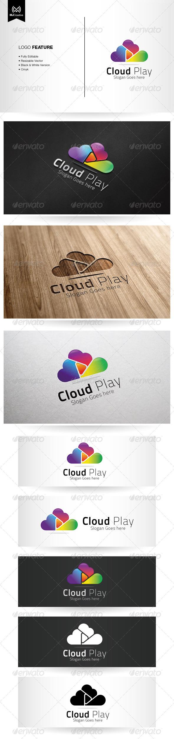 GraphicRiver Cloud Play Logo 5387576
