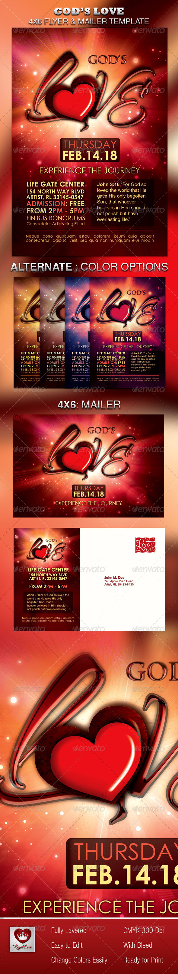 GraphicRiver God s Love Flyer & Mailer Template 4030632
