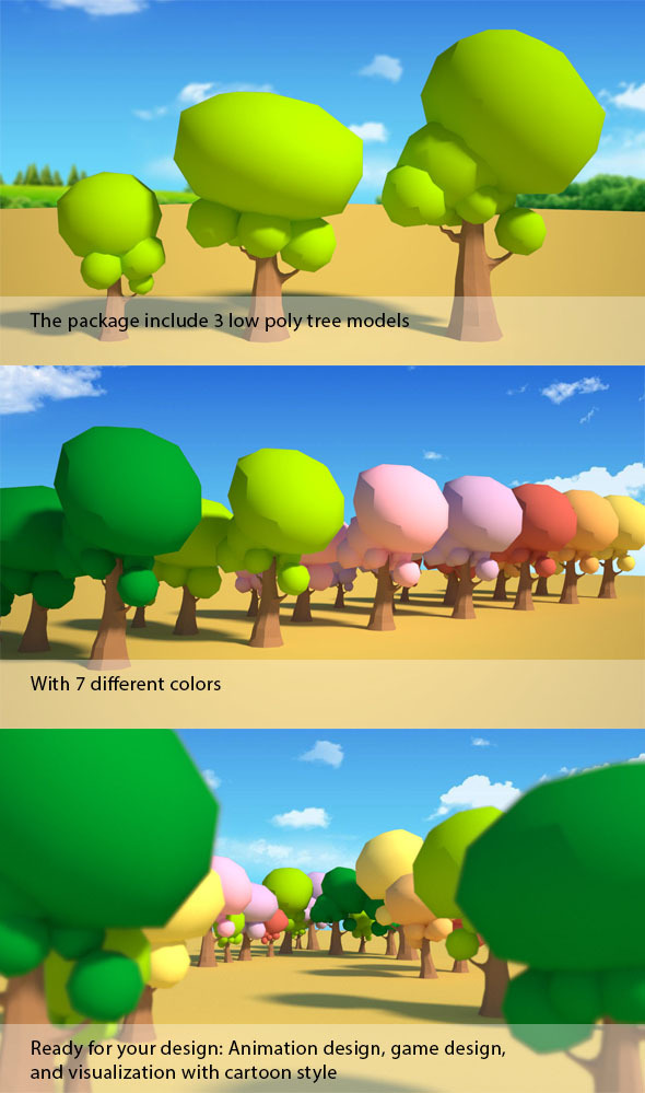 3DOcean Low Poly Tree 5387817