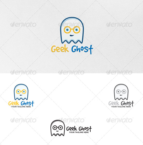 GraphicRiver Geek Ghost Logo Template 5387888