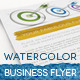 Watercolor Business Flyer Kit - GraphicRiver Item for Sale