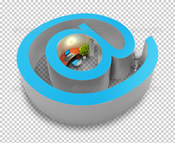 GraphicRiver 3D small people input in Internet 5388026