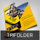 Black Yellow Tri Fold  - GraphicRiver Item for Sale