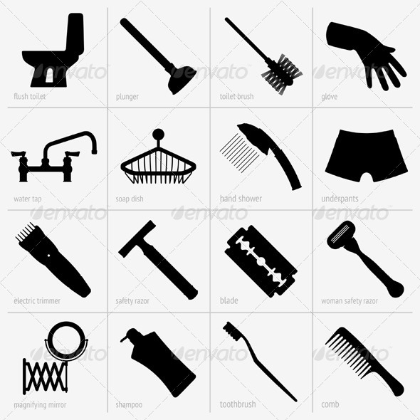 GraphicRiver Bath Accessories 5388175
