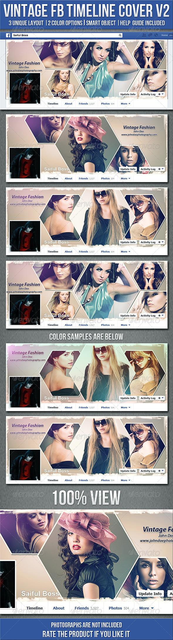 GraphicRiver Vintage Photography FB Timeline Cover V2 5388549
