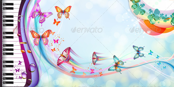 GraphicRiver Background with Butterflies 5388650