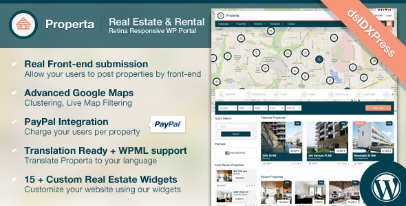 ThemeForest Properta Real Estate WordPress Theme 5382388