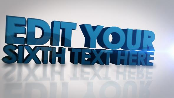 VideoHive 3D Text Reveal 5388914
