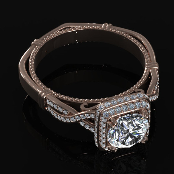 Diamond Ring Creative 003 - 3DOcean Item for Sale