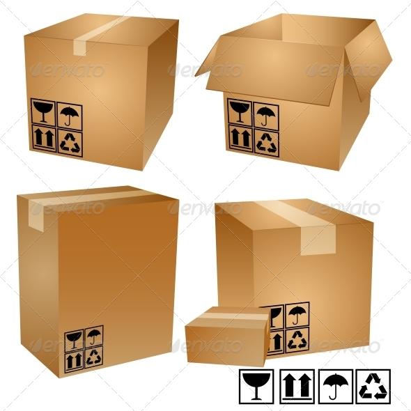 GraphicRiver Cardboard Boxes 5389053