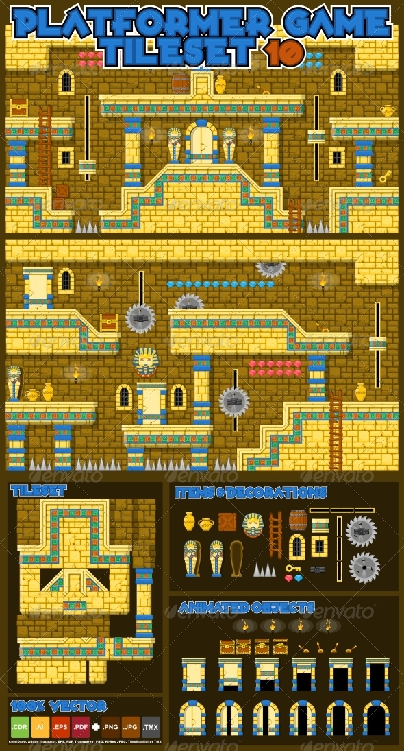 GraphicRiver Platformer Game Tile Set 10 5389074
