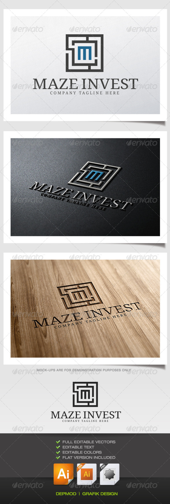 GraphicRiver Maze Invest Logo 5389123