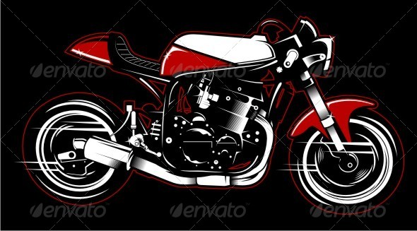GraphicRiver Cafe Racer Vector 5389132