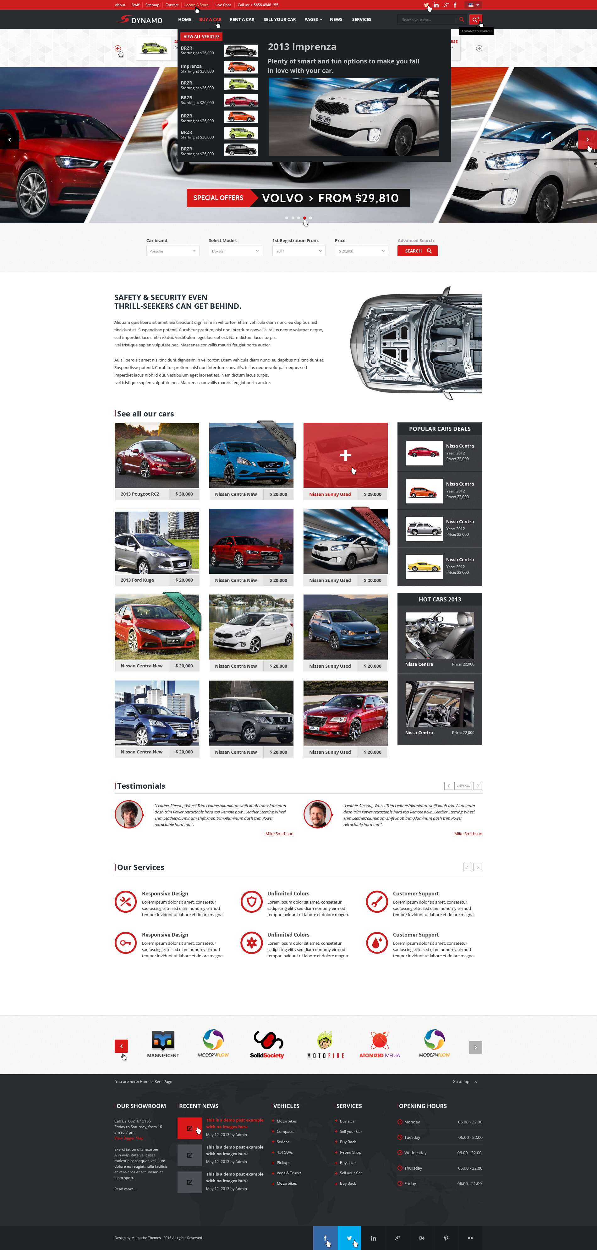 Dynamo - Sell/Buy/Rent Cars Online PSD