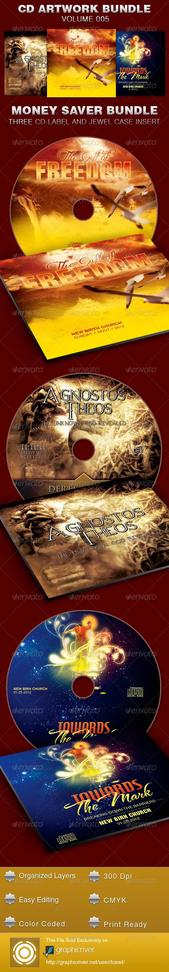 GraphicRiver CD Cover Artwork Bundle-Vol 005 5389502