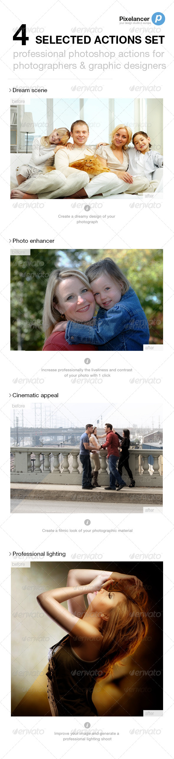 GraphicRiver 4 Selected Actions Set 5389813