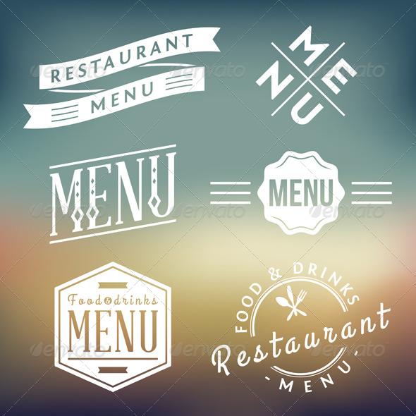 GraphicRiver Restaurant Menu Labels 5389845