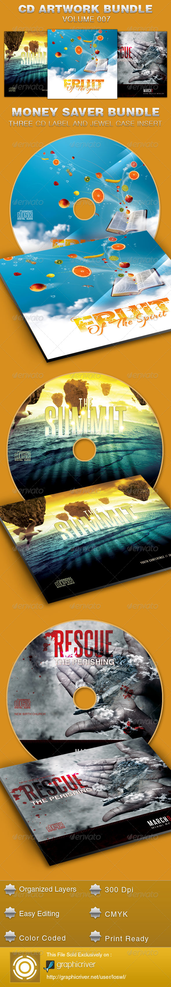 GraphicRiver CD Cover Artwork Bundle-Vol 007 5389851