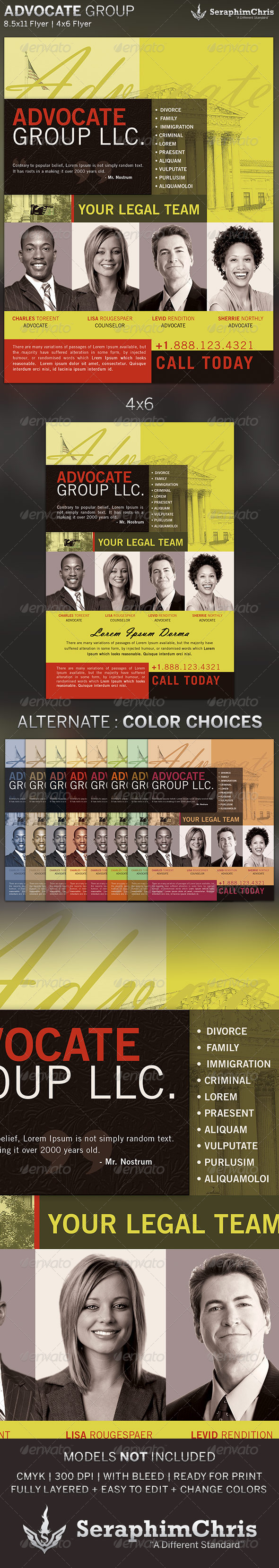 Advocate Group Flyer Template
