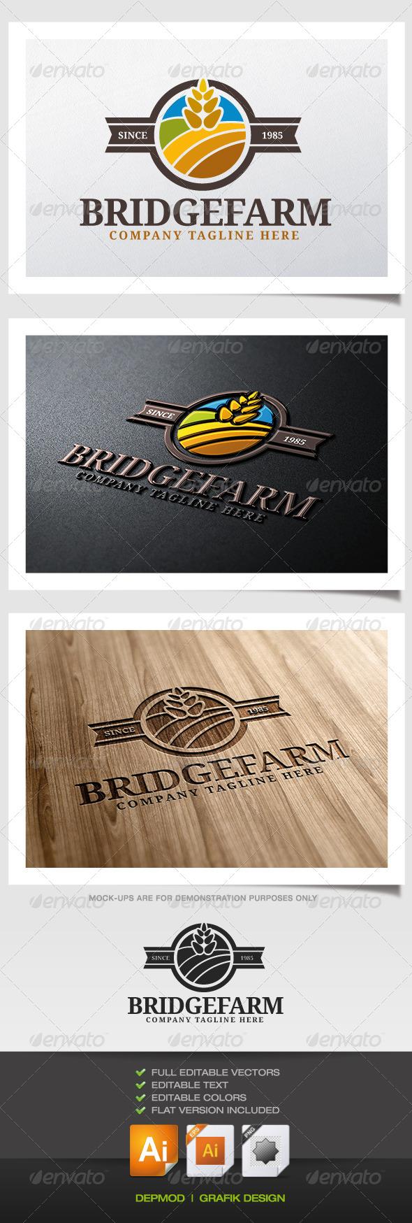 GraphicRiver Bridge Farm Logo 5390143
