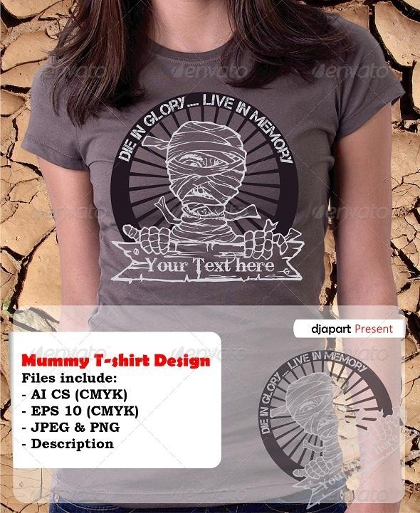 Mummy T-Shirt Template Design