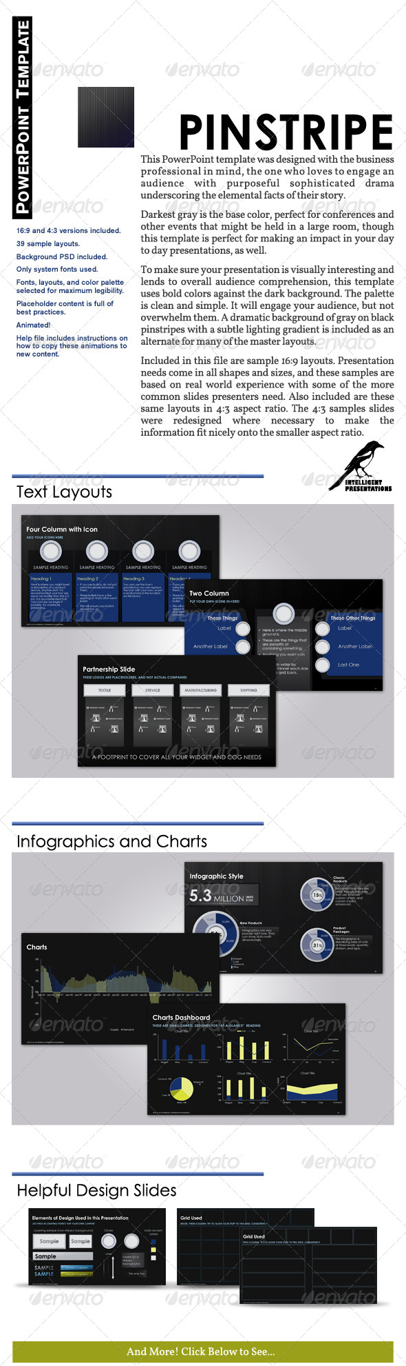 GraphicRiver Pinstripe PowerPoint Template 5356888