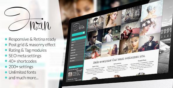 Inzin – Responsive Blog WordPress Theme (Blog / Magazine) images