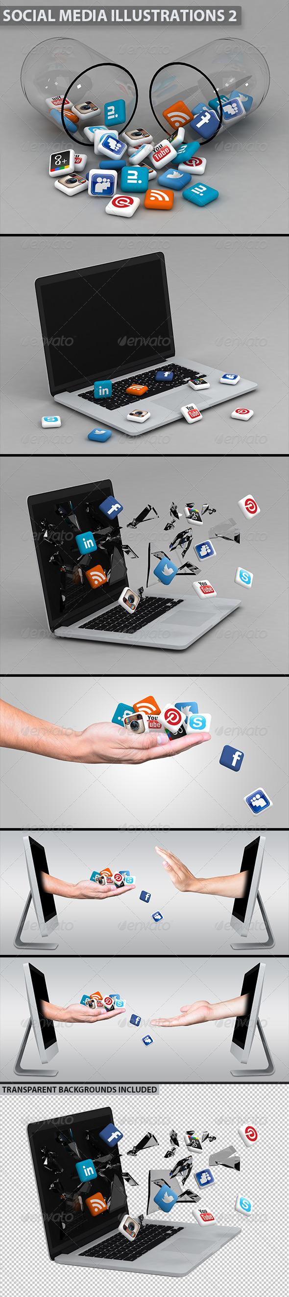 GraphicRiver Social Media Illustrations 2 5390461