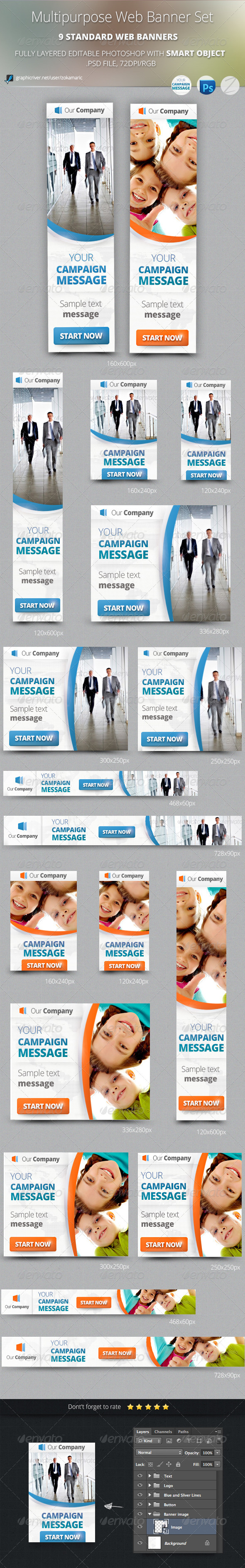 GraphicRiver Multipurpose Web Banner Set 5390649