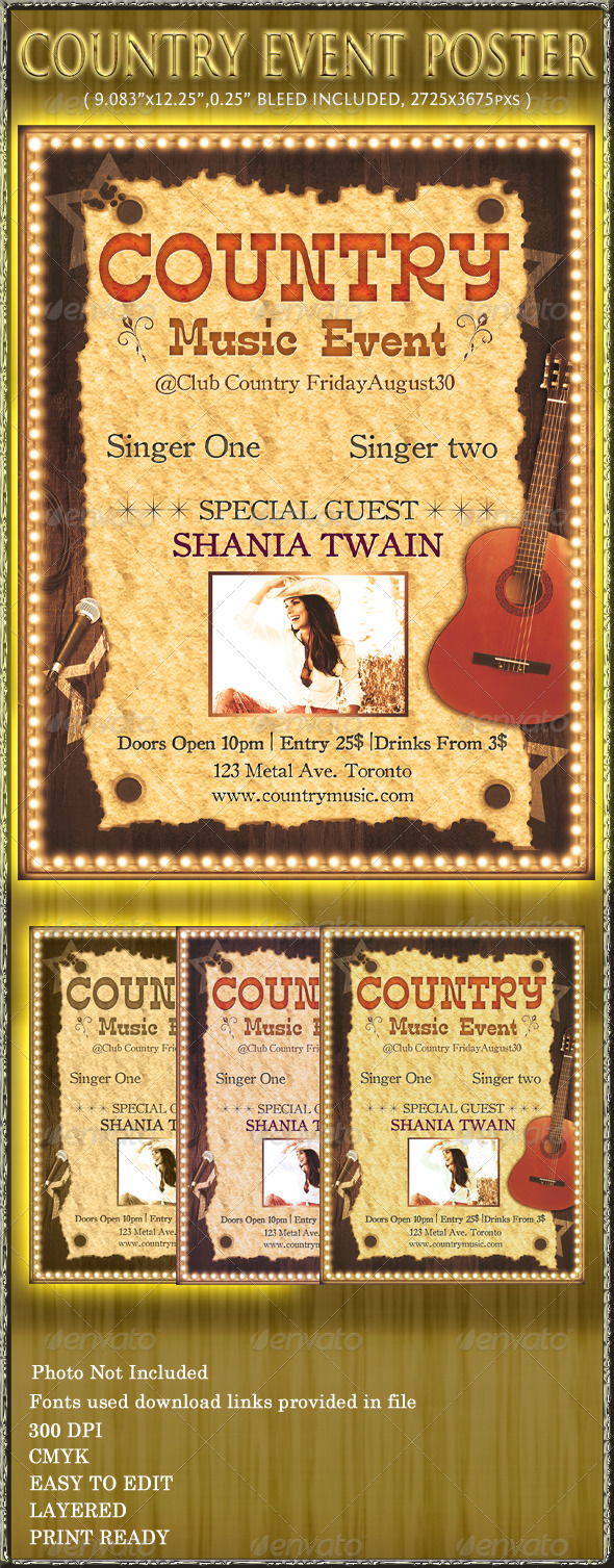 GraphicRiver Country Music Event Poster 554096