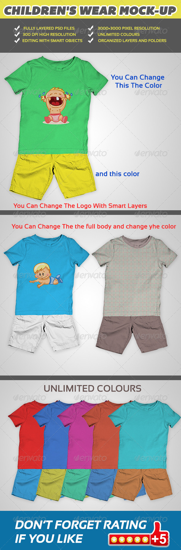 GraphicRiver Children Wear Mock-Up V1 5391621