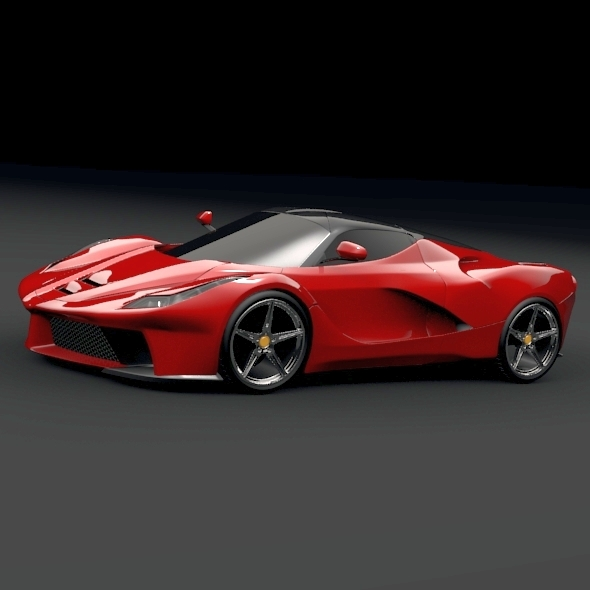 3DOcean La ferrari supercar restyled 5391713