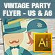 Vintage Party Flyer - GraphicRiver Item for Sale