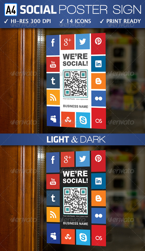 GraphicRiver Social Media Poster Sign 5315391