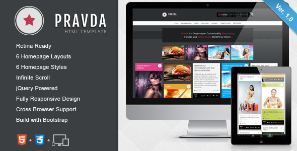 ThemeForest Pravda Responsive Retina HTML Template 5392136
