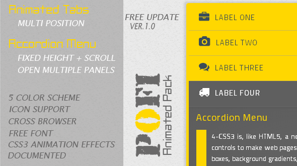 CodeCanyon Pofi Animated Tabs And Accordion Menu 5392230