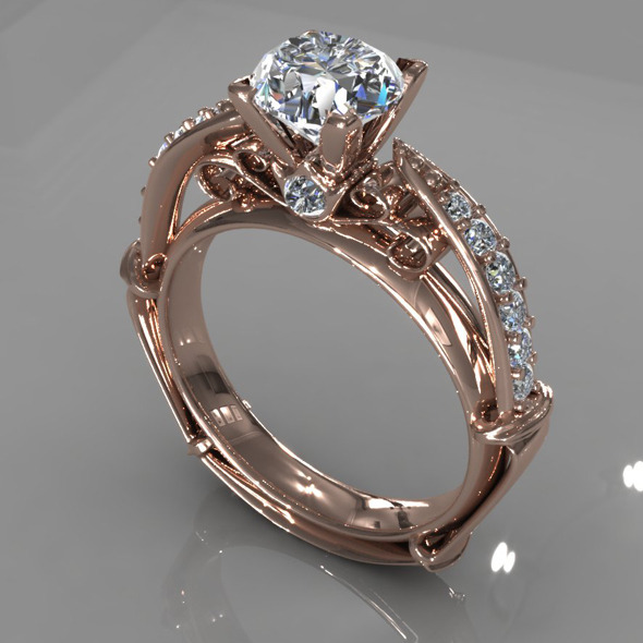 Diamond Ring Creative 011 - 3DOcean Item for Sale