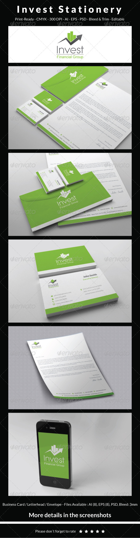 GraphicRiver Invest Stationery 5350896