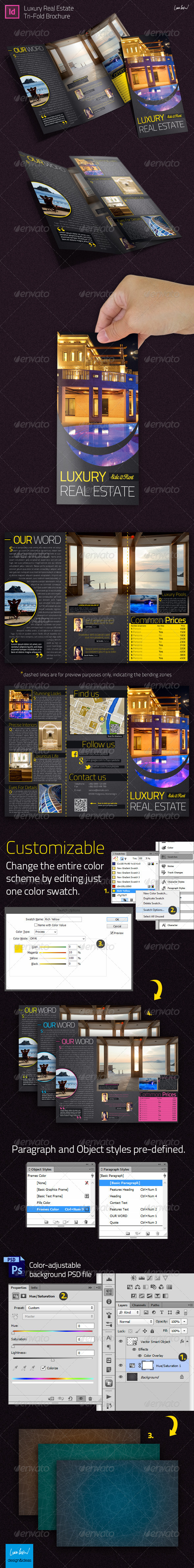 GraphicRiver Luxury Real Estate Indesign Trifold Brochure 5356889