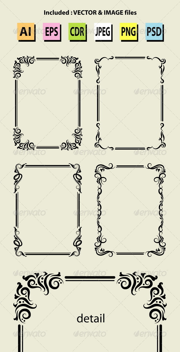 GraphicRiver Blank Frame Decorations 5392898