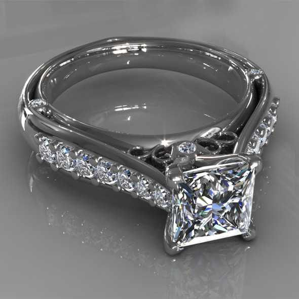 Diamond Ring Creative 015 - 3DOcean Item for Sale