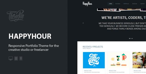 InHappyHour: Responsive Portfolio WordPress Theme (Creative) images