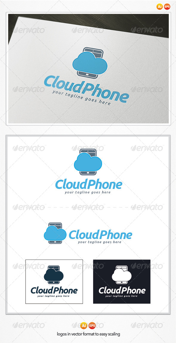 GraphicRiver Cloud Phone Logo 5382748